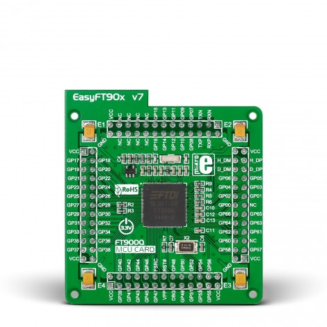 EasyFT90x v7 MCU card with FT900 QFN-100