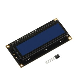 2x16 LCD and DS1820 temperature sensor