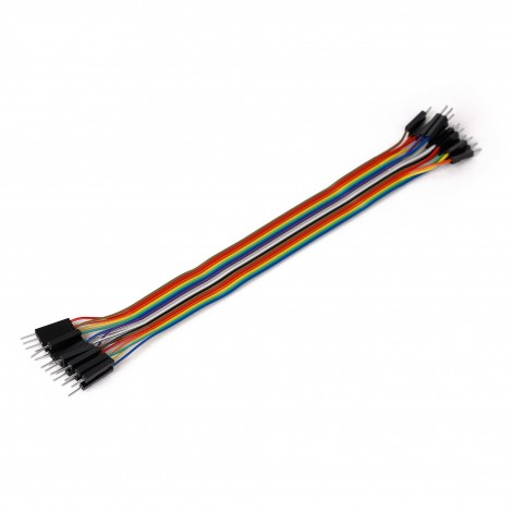 Ribbon Cable 16-wire, Male/Male, 20 cm